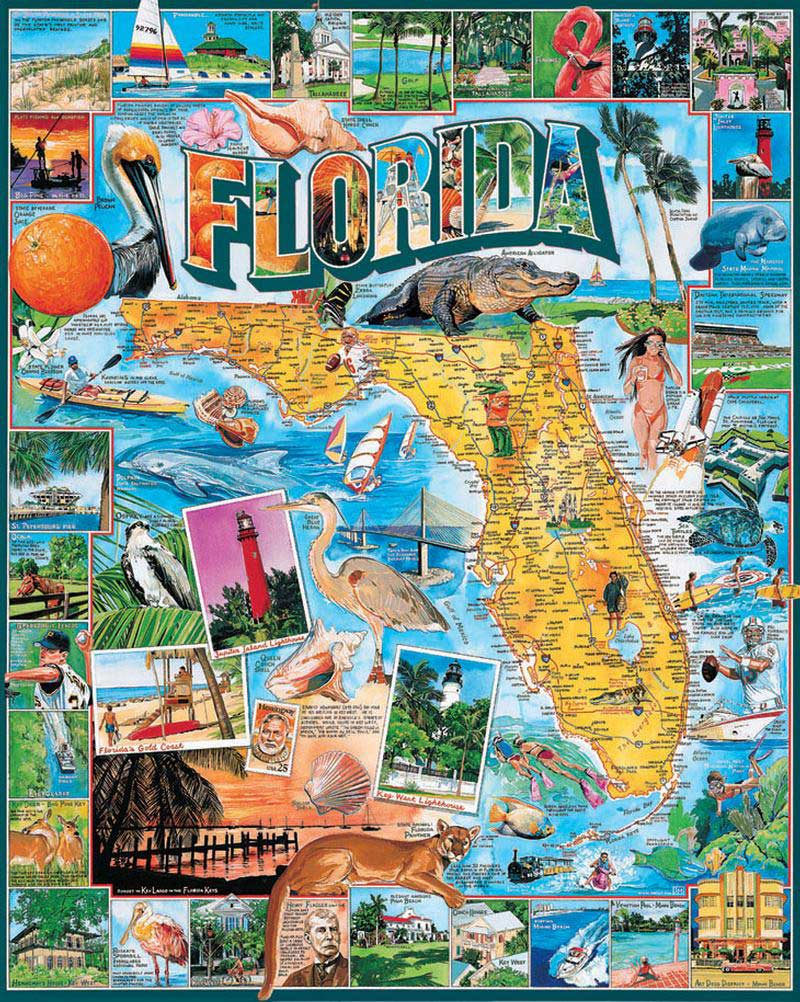 Complete Map Of Florida.Florida