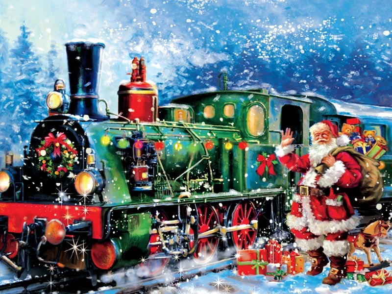 Holiday Traditions - Santa Express! Christmas Jigsaw Puzzle