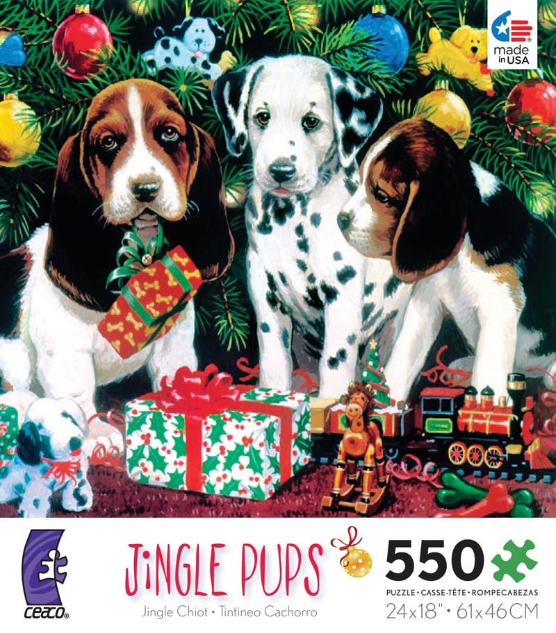 Holiday Traditions - Jingle Pups Christmas Jigsaw Puzzle