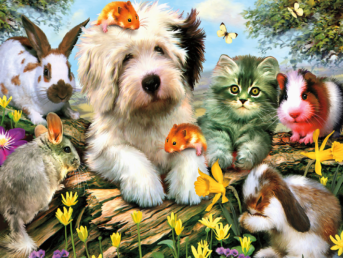 Furry Friends (Harmony) - Scratch and Dent Animals Jigsaw Puzzle