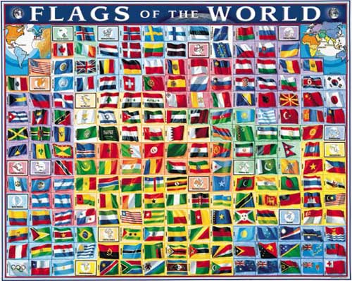 Flags of the World Maps Jigsaw Puzzle