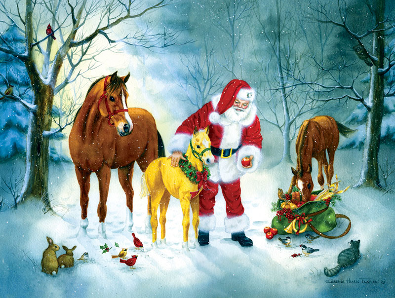 A Christmas Gathering Jigsaw Puzzle
