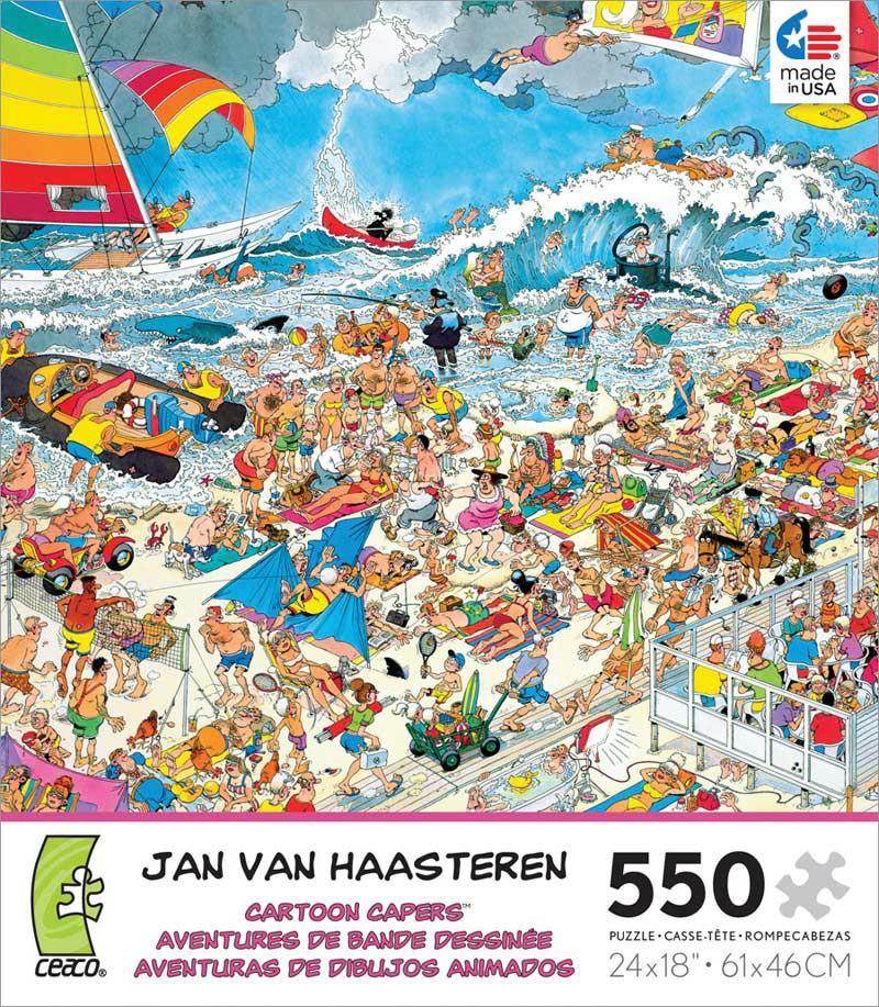 Cartoon Capers - At the Beach Beach Jigsaw Puzzle