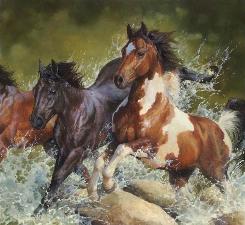 Wild Horses - Marris Horses Horses Jigsaw Puzzle