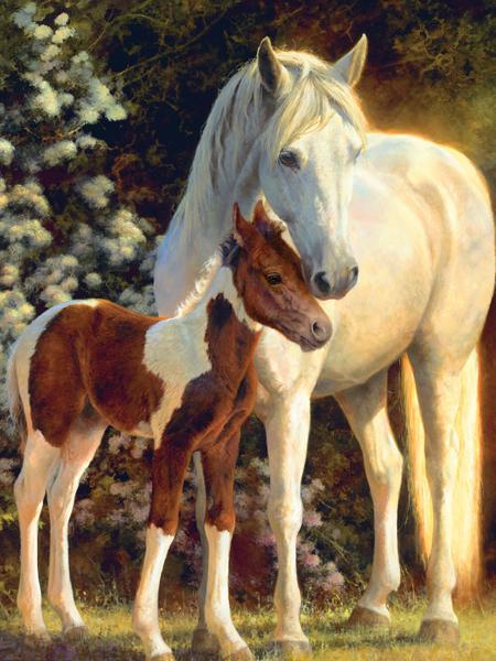 Wild Horses - Maxfield's Garden Horses Jigsaw Puzzle