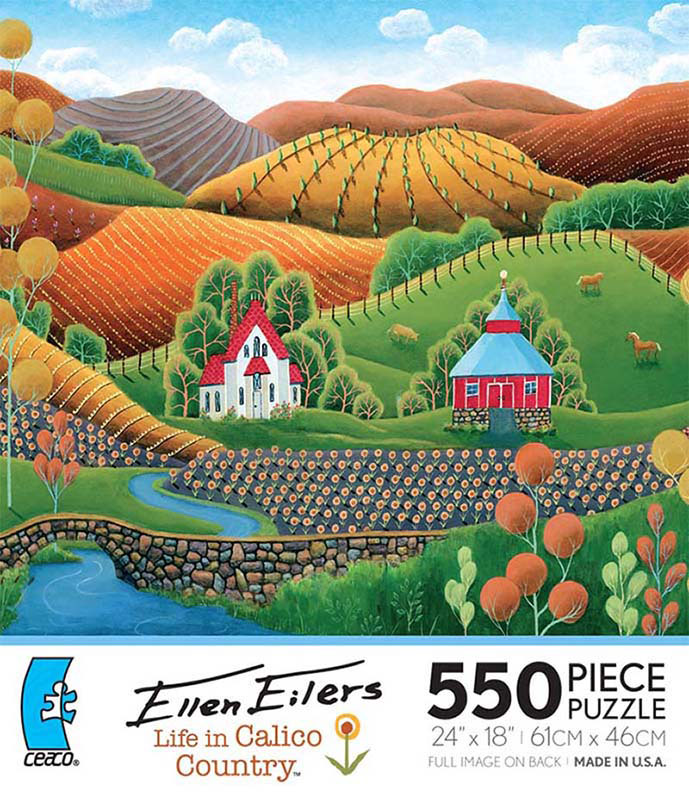 Ellen Eilers - Life in Calico Country, Bill's Summer House Jigsaw Puzzle