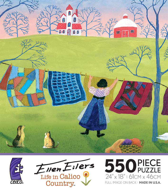 Ellen Eilers - Life in Calico Country, Airing Auntie's Quilts Quilting & Crafts Jigsaw Puzzle