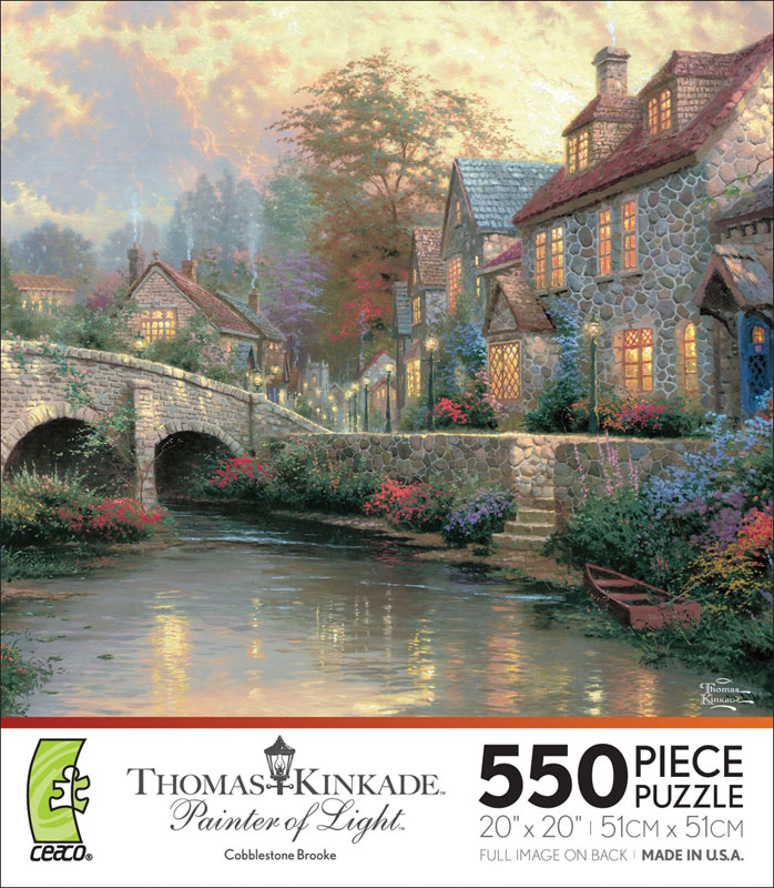 Cobblestone Brook Countryside Jigsaw Puzzle