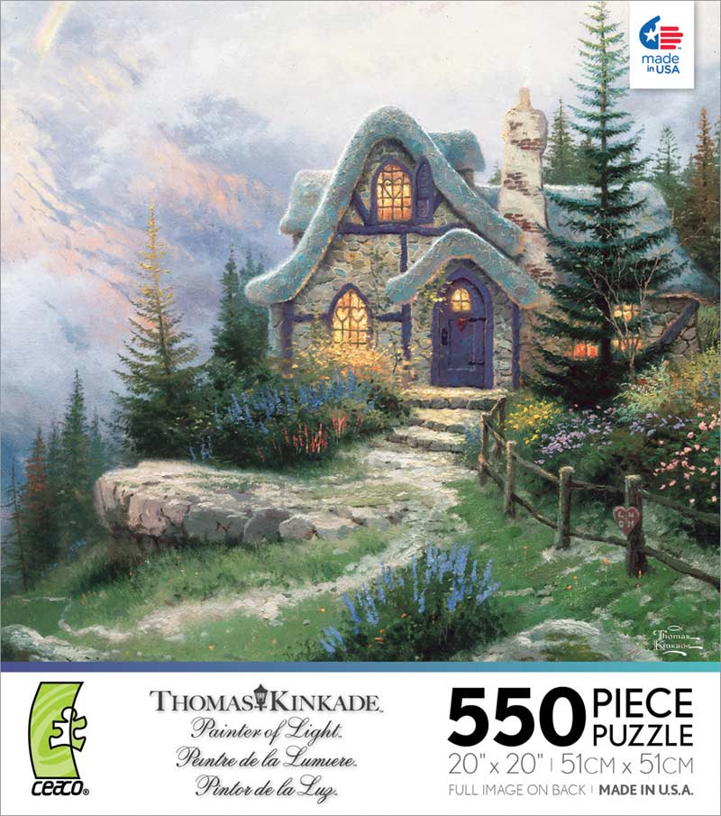 Kinkade - Sweetheart Cottage III Countryside Jigsaw Puzzle