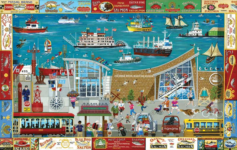 Next Stop: Columbia River Museum Landmarks / Monuments Jigsaw Puzzle