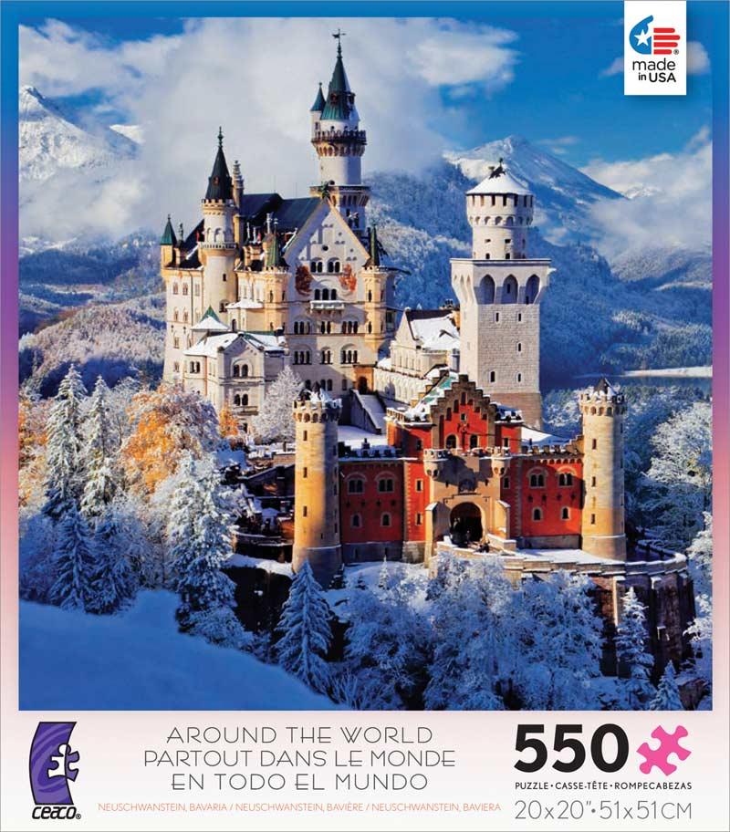 Around the World - Neuschwanstein, Bavaria Castles Jigsaw Puzzle