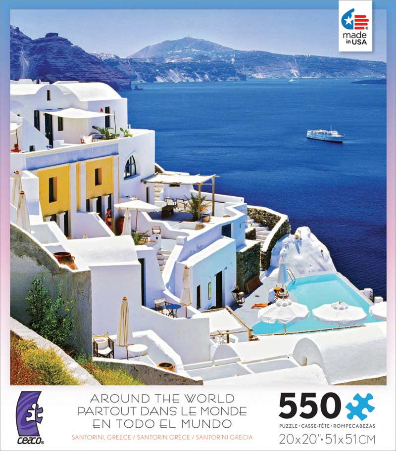 Around the World - Santorini, Greece Landmarks Jigsaw Puzzle