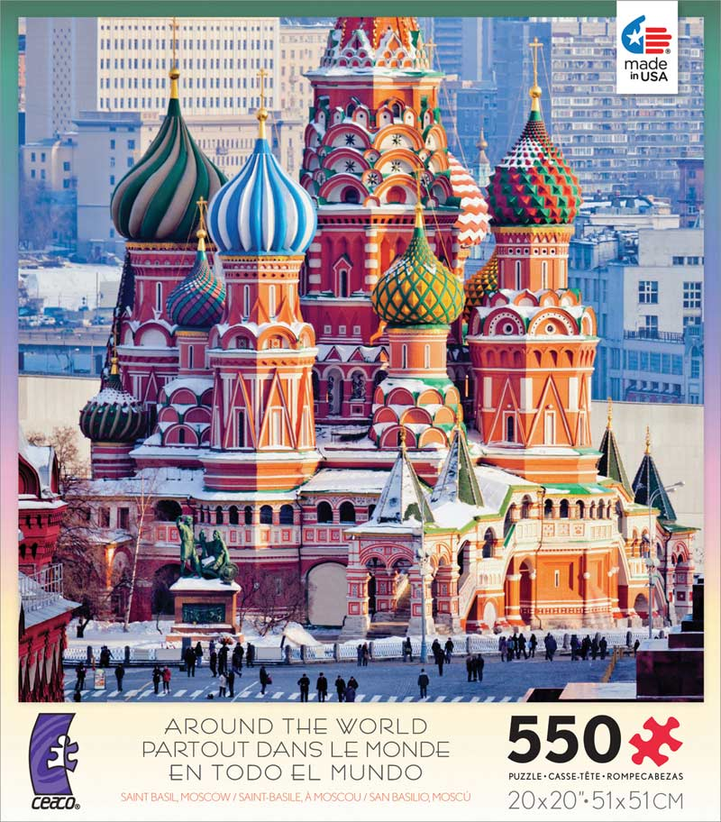 Around the World - Saint Basil, Moscow Landmarks Jigsaw Puzzle