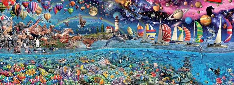 Life, The Greatest Puzzle - 24,000 Pieces Balloons Jigsaw Puzzle
