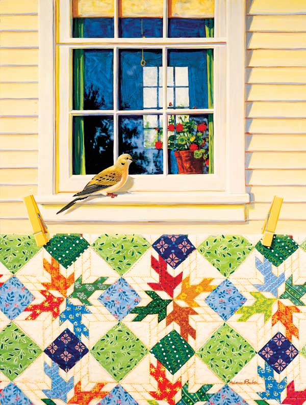 Dove in the Window Birds Jigsaw Puzzle