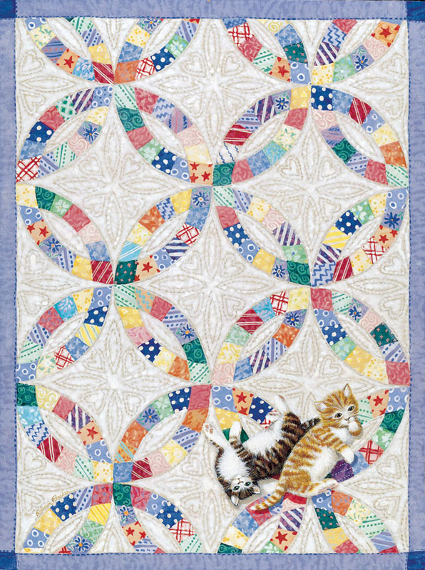 Wedding Rings & Kittens Quilting & Crafts Jigsaw Puzzle