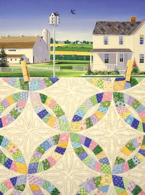 White Wedding Rings Quilting & Crafts Jigsaw Puzzle