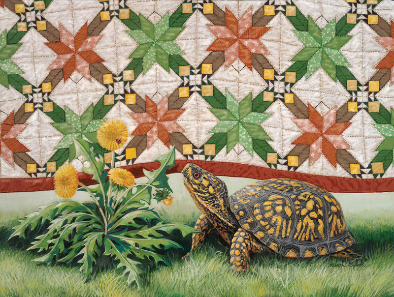 Turtle Quiltscape Quilting & Crafts Jigsaw Puzzle