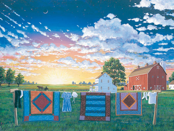 Amish Quiltscape Farm Jigsaw Puzzle