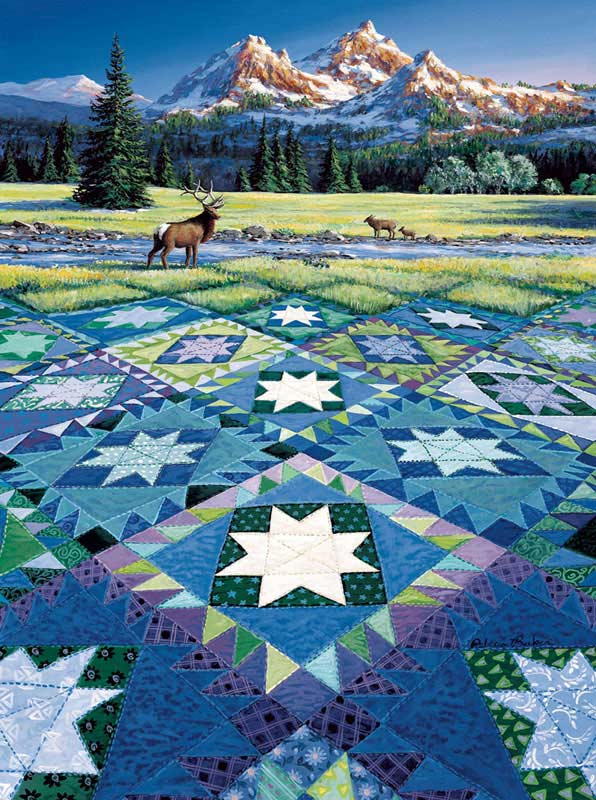Mountain Vigil Quilting & Crafts Jigsaw Puzzle