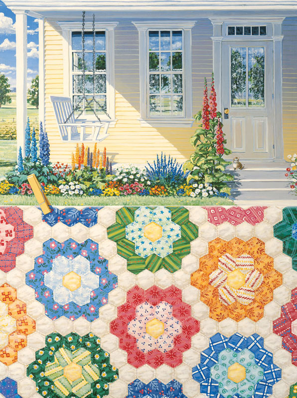 Grandmother's Flower Garden Quilting & Crafts Jigsaw Puzzle