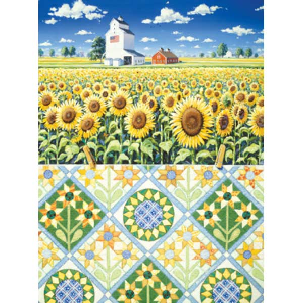 Sunflower Quiltscape Crafts & Textile Arts Jigsaw Puzzle
