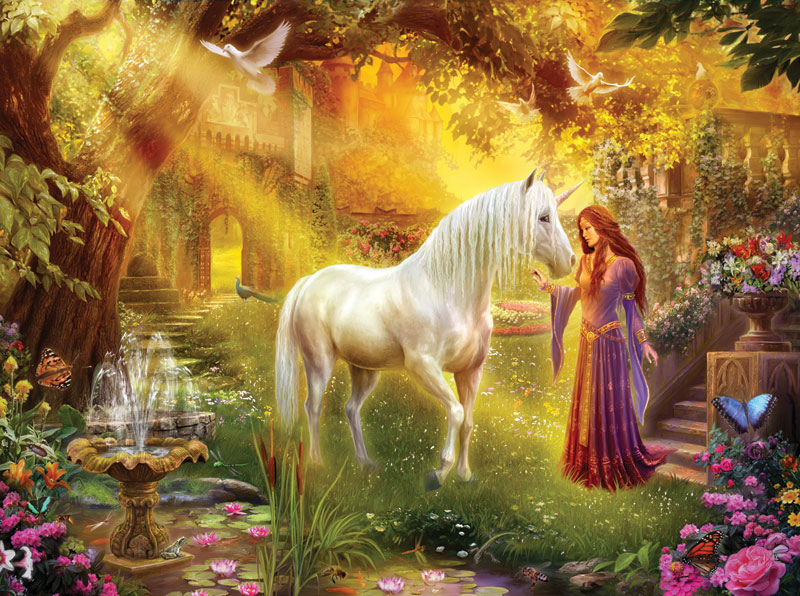The Secret Garden Unicorns Jigsaw Puzzle