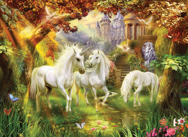 Magical Unicorn Forest Fantasy Jigsaw Puzzle