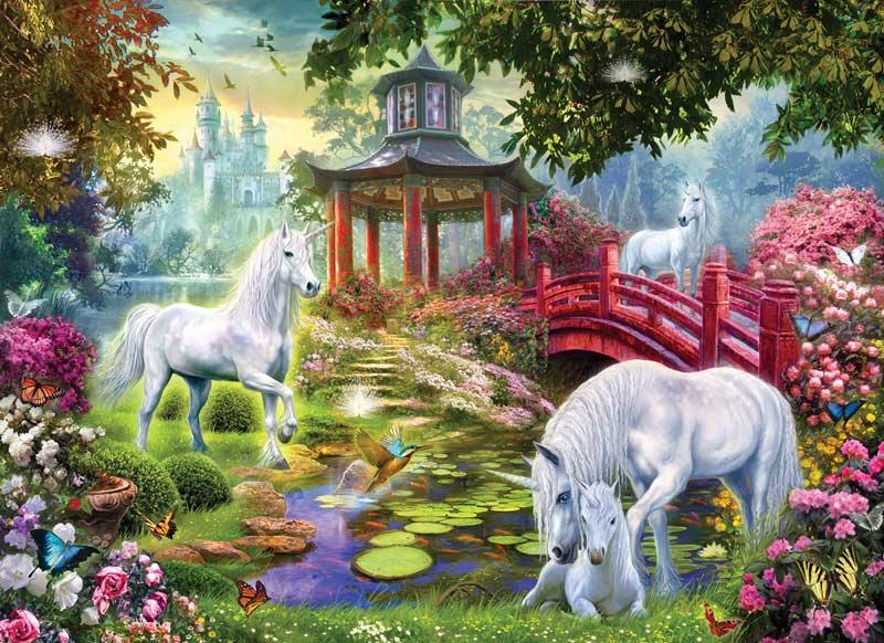 Unicorn Summer House Fantasy Jigsaw Puzzle