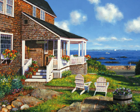 Ocean Avenue Seascape / Coastal Living Jigsaw Puzzle