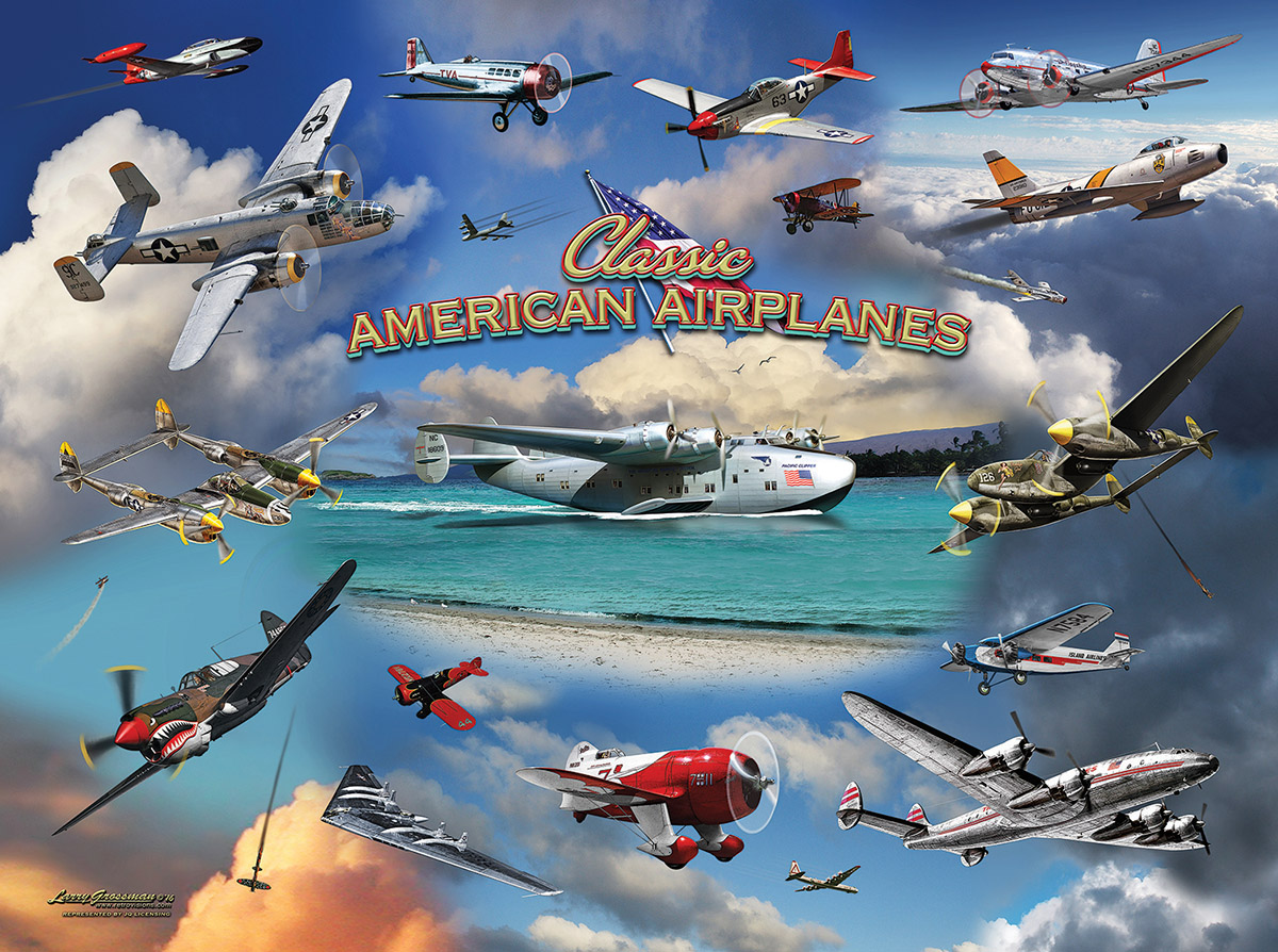 Classic American Planes - Scratch and Dent Planes Jigsaw Puzzle
