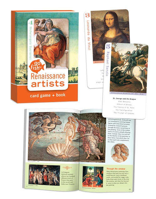 Go Fish: Renaissance Art Trivia Games Card Game