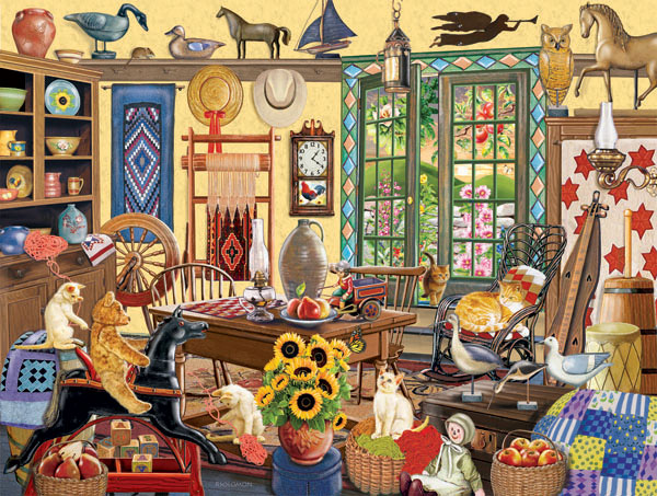 Who Left The Door Open Everyday Objects Jigsaw Puzzle