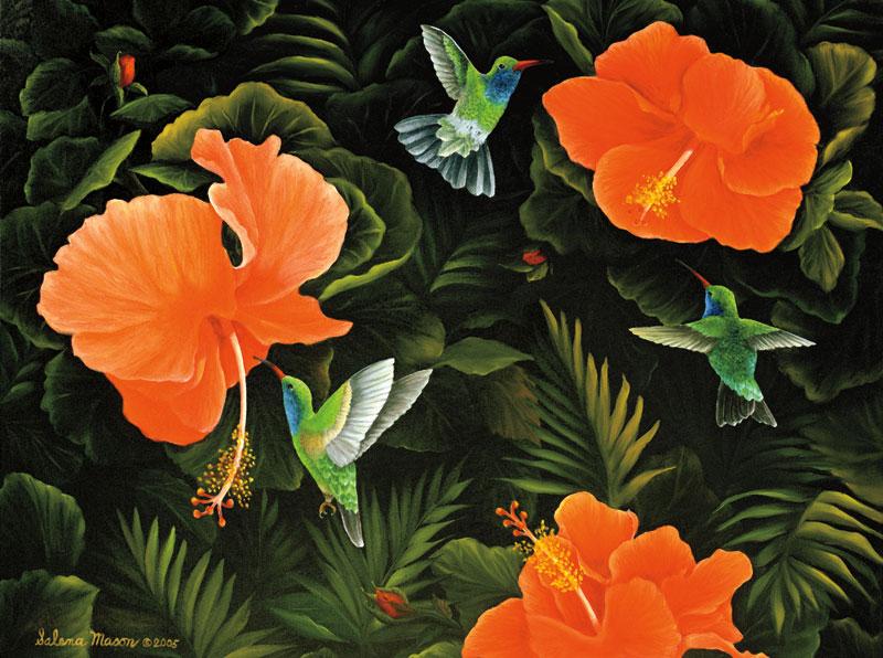 Hummingbird Buffet Jigsaw Puzzle