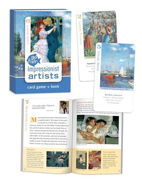 Go Fish: Impressionist Art Trivia Games Card Game