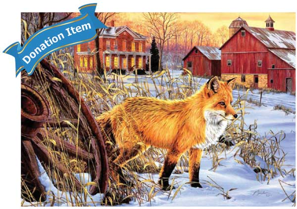 Life Skills - Fox Hiding Place Winter Jigsaw Puzzle