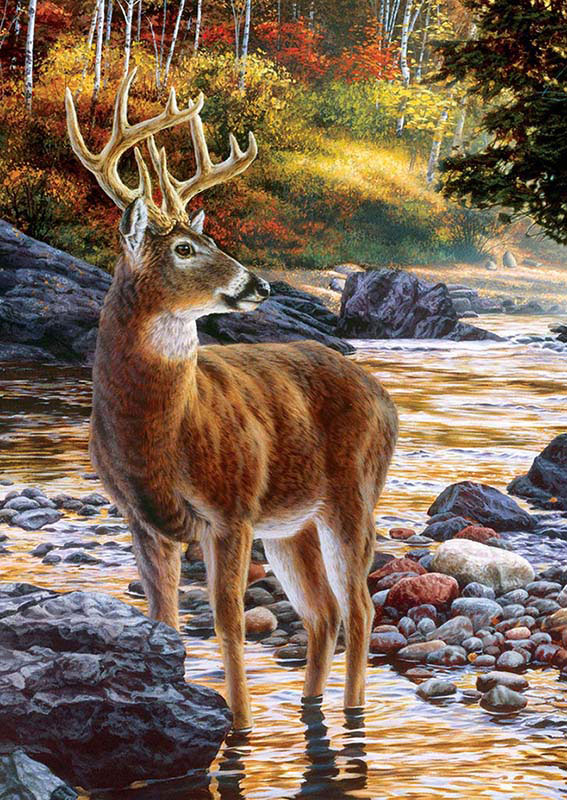 Shallow Crossing Wildlife Jigsaw Puzzle