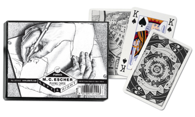 Escher Left & Right, Double Deck Contemporary & Modern Art Playing Cards