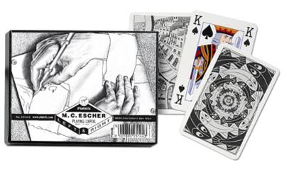 Escher Left & Right, Double Deck Contemporary & Modern Art Playing Cards