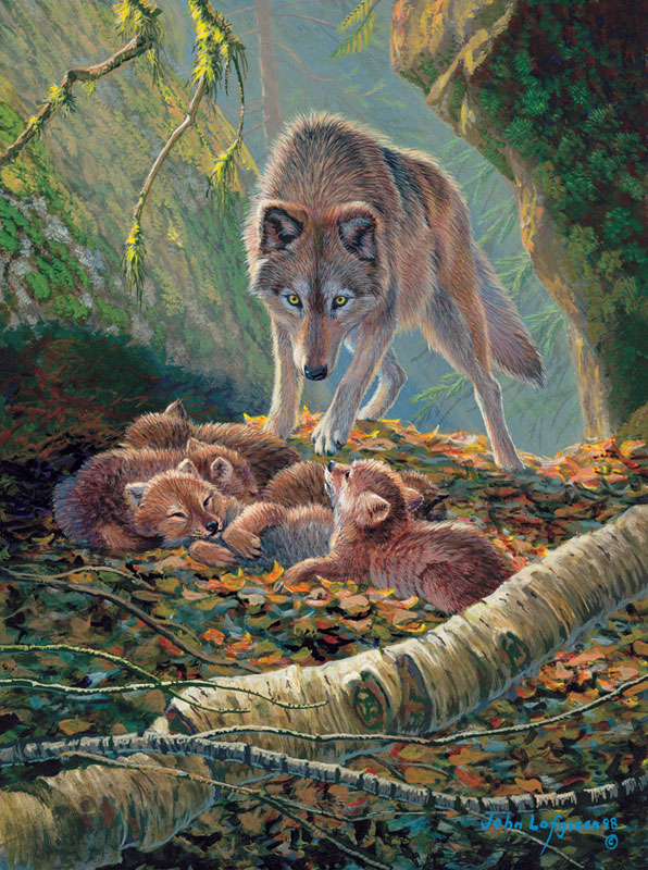 Den Mother Wolves Jigsaw Puzzle