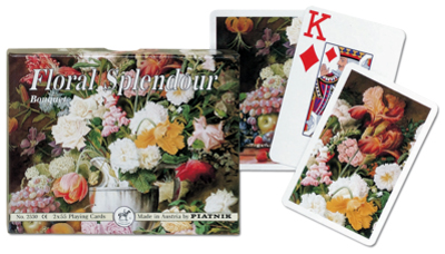Bouquet Jumbo, Double Deck Flowers Playing Cards