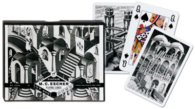 Escher Up & Down, Double Deck Contemporary & Modern Art Playing Cards