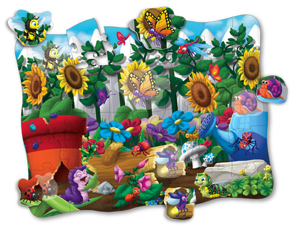 Puzzle Doubles Discover It! 3D Bugs Butterflies and Insects Children's Puzzles