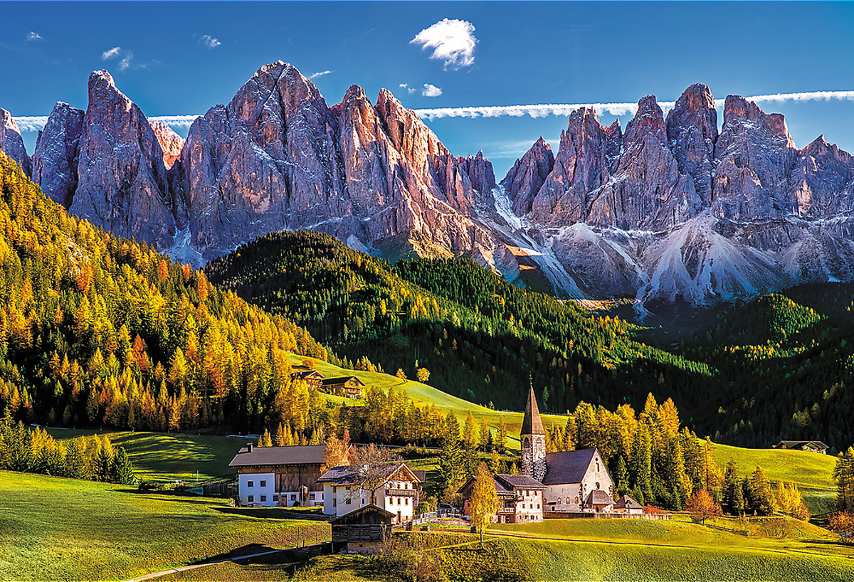 Val Di Funes Valley, Dolomites, Italy - Scratch and Dent Italy Jigsaw Puzzle