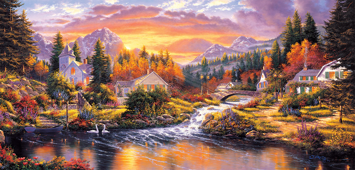 Morning Sunlight Lakes / Rivers / Streams Jigsaw Puzzle