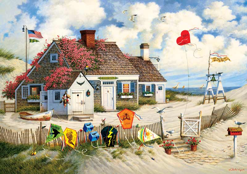Root Beer Break At The Butterfields Beach Jigsaw Puzzle