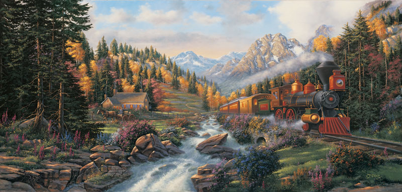 Autumn Run Trains Jigsaw Puzzle