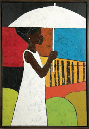 The White Umbrella Jigsaw Puzzle