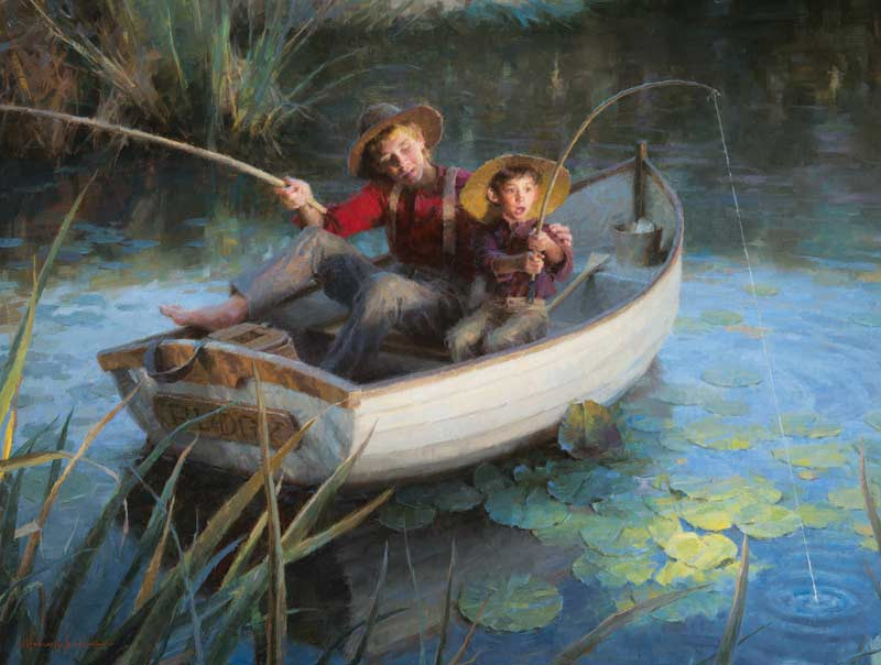 The Fishing Hole Fishing Jigsaw Puzzle