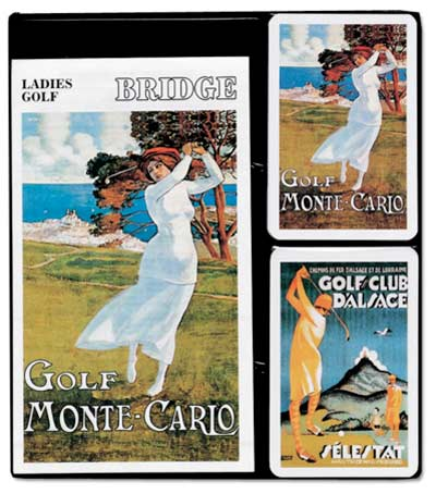 Ladies Golf, Bridge Set Nostalgic / Retro Playing Cards